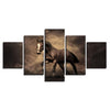 Image of Horse in Dust 5PC Canvas