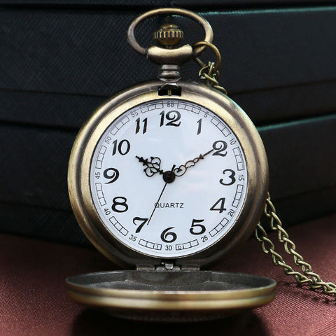 Freemason Bronze Pocket Watch With Chain