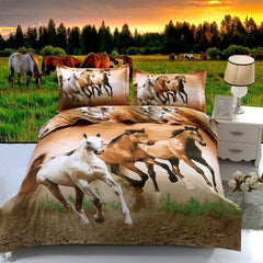 Image of Three Horse Bedding Set