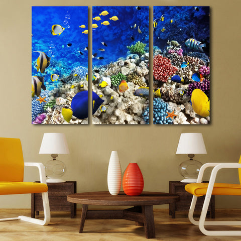 The Abundant Reef 3PC Canvas