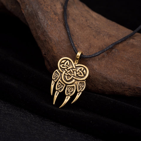 Viking Bear Paw Necklace - Limited Edition