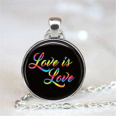 Love is Love Stainless Steel Necklace LGBTQ Pride