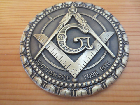 Freemason 3D Compass & Square Car Badge