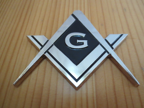 Freemason Compass And Square Car Emblem
