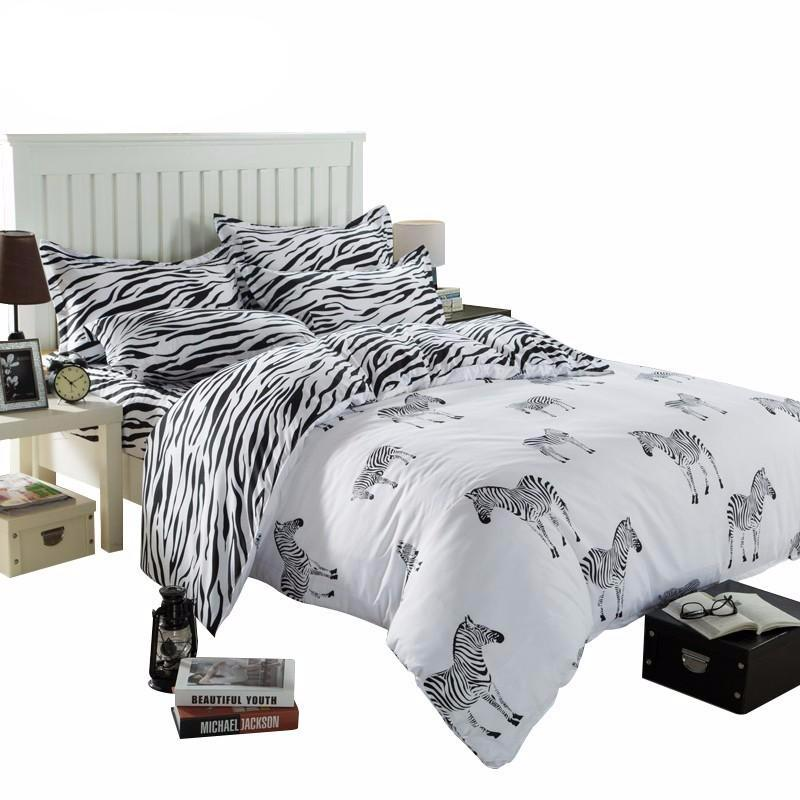 Zebra Print Bedding Set; Zebra Print Bedding Set