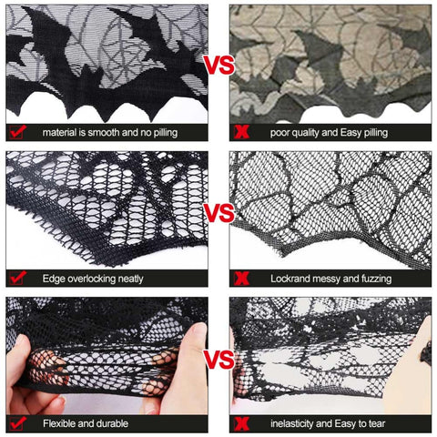 Black Lace Spiderweb Shades Halloween Decoration