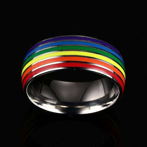 LGBTQ 'Love is Love' Stainless Steel Ring