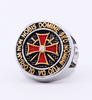 Image of Antique Stainless Steel Gold/Silver Knights Templar Ring