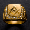 Image of Masonic Diamond Gold Ring