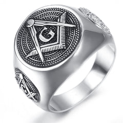 Stainless Steel Mens Masonic Ring