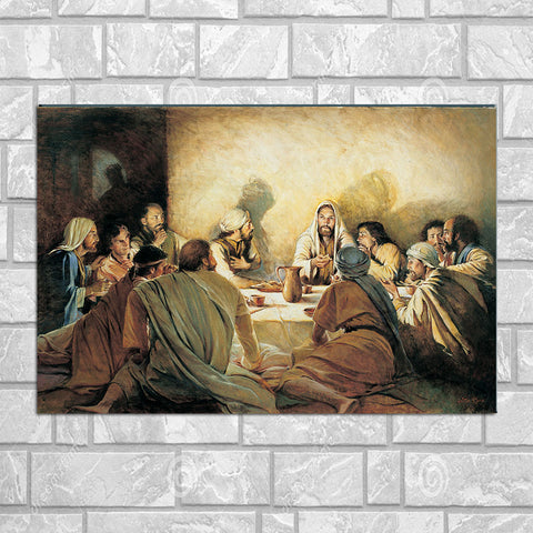 The Lord and The Last Supper Canvas Poster