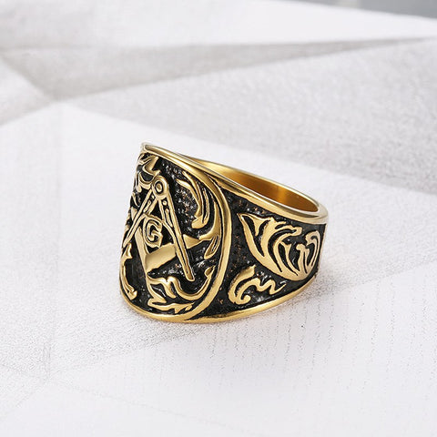 NEW ARRIVAL! Stainless Steel Freemason Ring