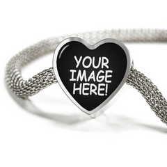 Custom Heart Charm Luxury Bracelet