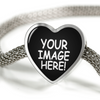Image of Custom Heart Charm Luxury Bracelet