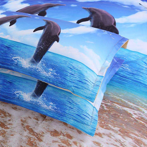 Dancing Dolphins 3D Bedding Set