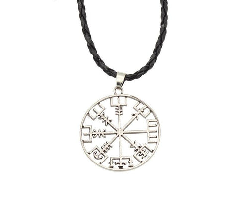 Viking Compass Rope Pendant Necklace