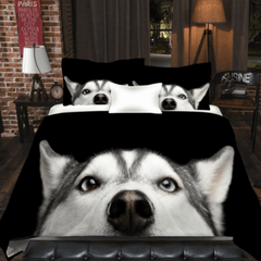 Image of Blue Eyed Husky Bedding Set