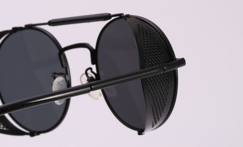 Retro Metal Frame Steampunk Sunglasses