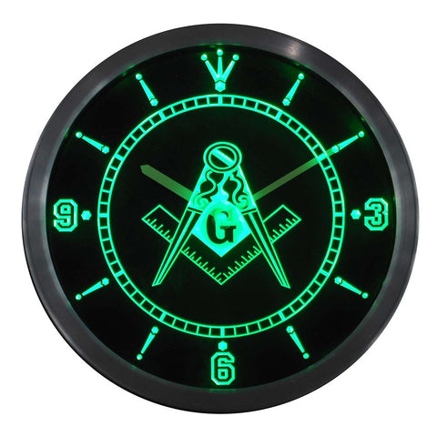 Freemason Neon LED Wall Clock