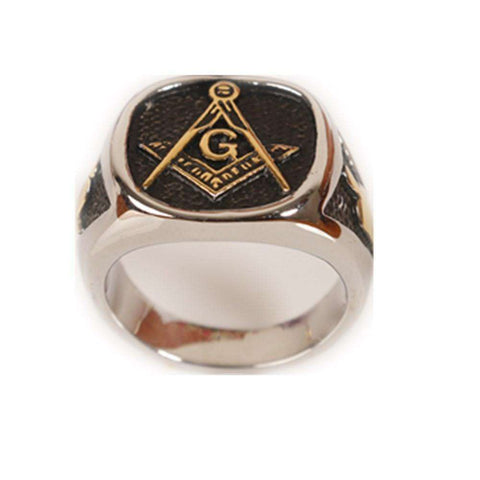 Freemasonry Masonic Stainless Steel Ring