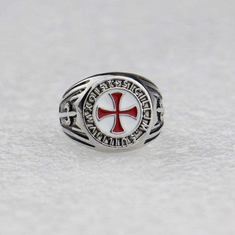 Knights Templar Stainless Steel Ring