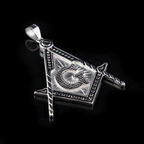 Masonic Gold/Silver Pendant Necklace