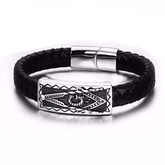 Masonic Stainless Steel Bracelet w/ Magnetic Buckle