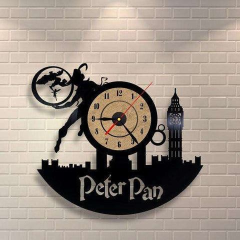 Peter Pan Disney Vinyl Record Clock