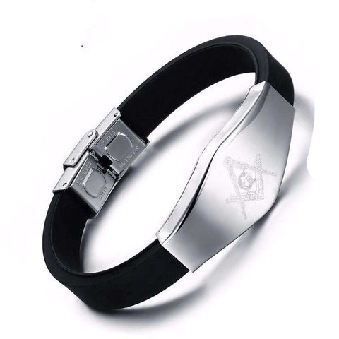 Stainless Steel Adjustable Freemason Bracelet