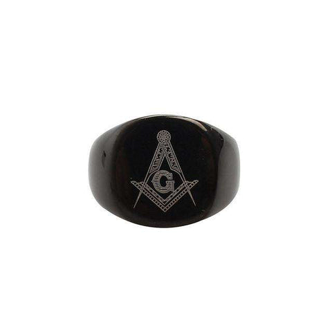Vintage Freemason Silver,Gold,Black Ring