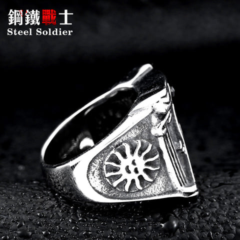 Vintage masonic stainless steel ring
