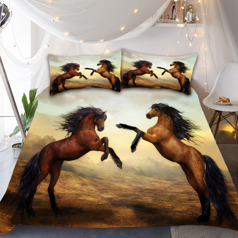 Two Horse Bedding Set