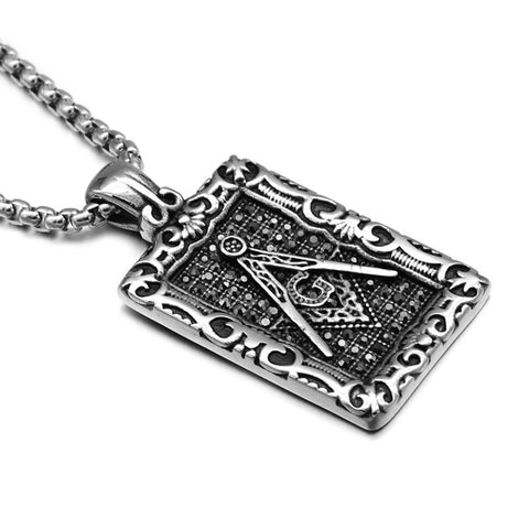 Gold/Silver Masonic Emblem Pendant Necklace
