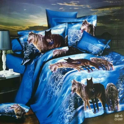 Wolves at Night Bedding Set