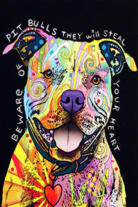 Beware of Pit Bulls Canvas Poster