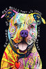 Image of Beware of Pit Bulls Canvas Poster