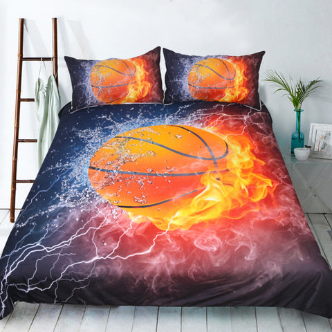 Fire Basketball Bedding set with pillow case
