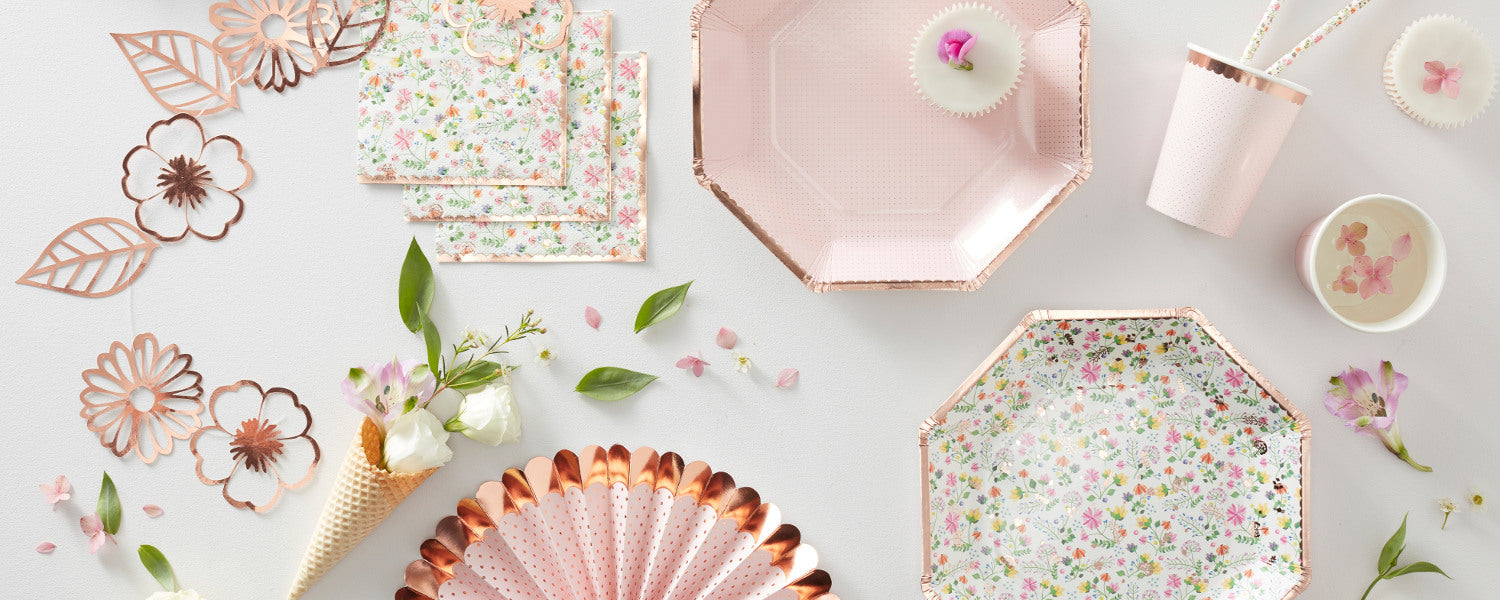 Ditsy Floral Range of Party Supplies