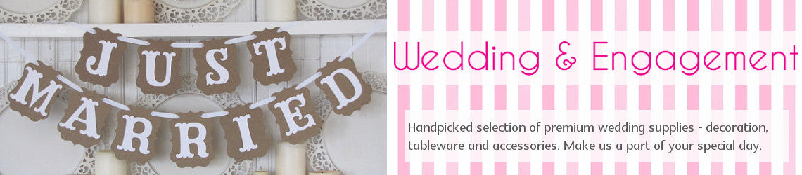wedding and engagement party supplies