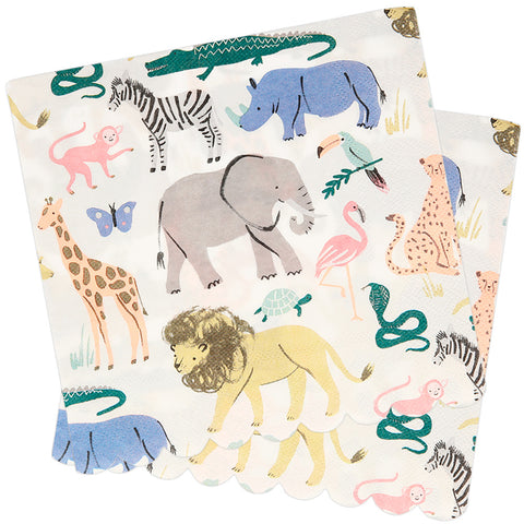 Safari Animals Paper Napkins 33cm