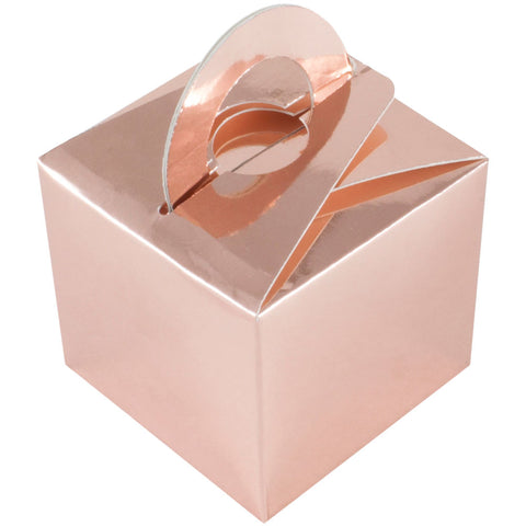 Rose Gold Balloon & Mini Gift Box - Oaktree - Party Touches