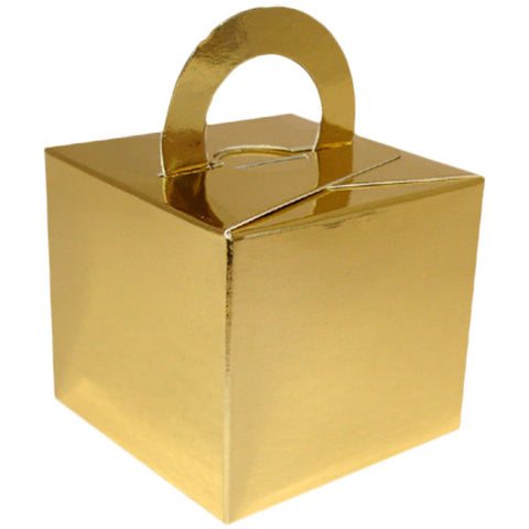 Gold Balloon & Mini Gift Box - Oaktree - Party Touches