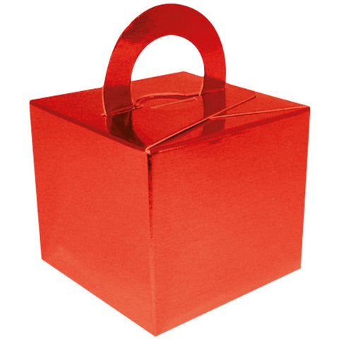 Metallic Red Balloon & Mini Gift Box - Oaktree - Party Touches