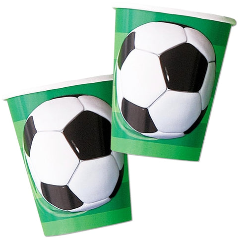 9oz Football Party Paper Cups - Unique Party - Party Touches