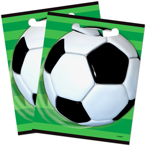Football Plastic Party Bags - Unique Party - Party Touches