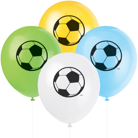 "12"" Latex Football Balloons - Unique Party - Party Touches"