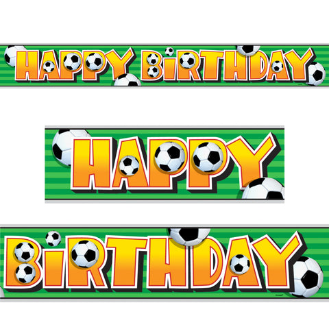 12ft Football Happy Birthday Banner - Unique Party - Party Touches