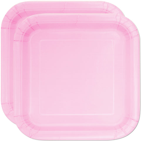 "Baby Pink 7"" Square Party Plates"