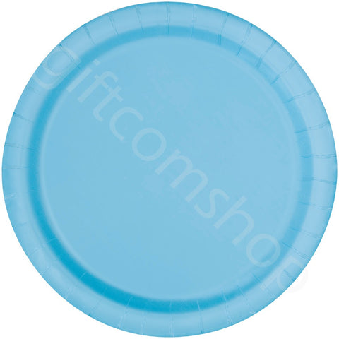 "9"" Baby Blue Party Plates"