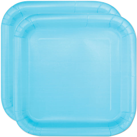 "Baby Blue 7"" Square Party Plates"